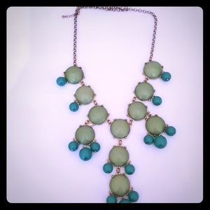 Green and blue bubble necklace